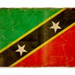 Grunge flag of Saint kitts and nevis - 