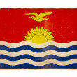 Grunge flag of Kiribati - 