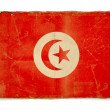 Grunge flag of Tunisia - 