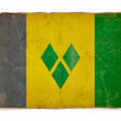 Stock Photo: Grunge flag of Saint vincent and grenadines
