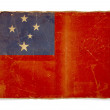 Grunge flag of Samoa - 