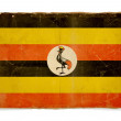 Grunge flag of Uganda — Photo