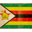 Grunge flag of Zimbabwe - 