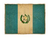 Grunge flag of Guatemala — Stock Photo