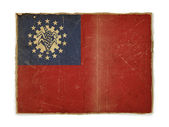 Grunge flag of Burma — Stock Photo