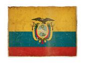 Grunge flag of Ecuador — Stock Photo