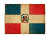 Bandera de grunge de república dominicana — Foto de Stock