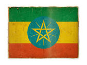 Grunge flag of Ethiopia — Stock Photo