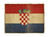 Grunge flag of Croatia — Stock Photo