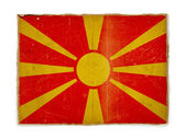 Grunge flag of Macedonia — Stock Photo