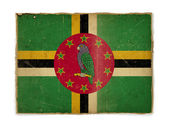Grunge flag of Dominica — Stock Photo