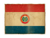 Grunge flag of Paraguay — Stock Photo