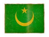 Grunge flag of Mauritania — 图库照片