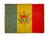 Grunge flag of Moldova — Stock Photo