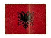 Grunge flag of Albania — Stock Photo
