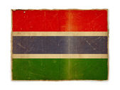 Grunge flag of Gambia — Stock Photo