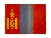 Grunge flag of Mongolia — Stock Photo