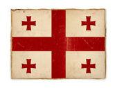 Grunge flag of Georgia — Stock Photo