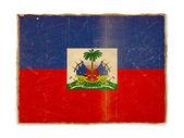 Grunge flag of Haiti — Stock Photo