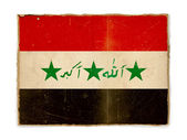 Drapeau de grunge de l'iraq — Photo