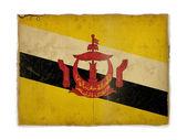 Grunge flag of Brunei — Stock Photo