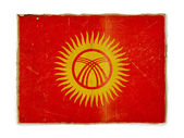 Grunge flag of Kyrgyzstan — Stock Photo