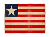 Grunge flag of Liberia — Stock Photo