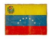 Grunge flag of Venezuela — Stock Photo