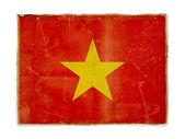 Bandeira do grunge do vietname — Fotografia Stock