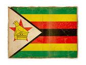 Drapeau de grunge du zimbabwe — Photo