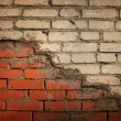 Weathered stained old brick wall — Foto Stock