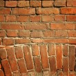 Weathered stained old brick wall — Stockfoto #8612406