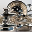 Metal cookware — Foto Stock