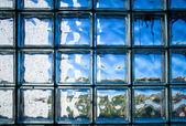 Tiled glass wall — Stock Photo