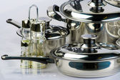 Metal cookware — Stock fotografie