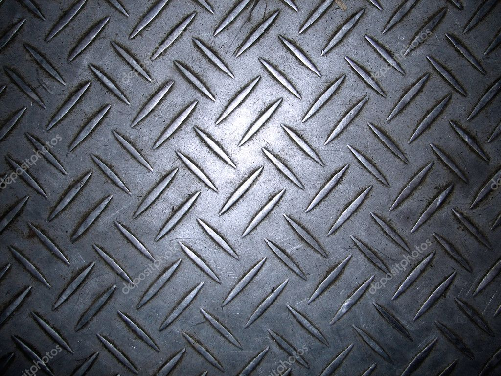 Enormous sheet of diamond plate metal great for sign or bill boards — Stock Photo #8612388