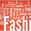 Fashion word cloud — Image vectorielle