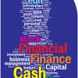 Financial word cloud — Stockvectorbeeld