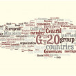 G-20 word cloud - Stock Vector