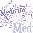 Stock Vector: Medecine word cloud