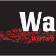 War word cloud — Vettoriali Stock