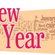 New Year word cloud — Imagen vectorial