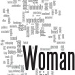 Woman word cloud — Stockvektor