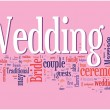 Wedding word cloud - Stock Vector