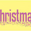 Christmas word cloud — Imagen vectorial