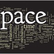 Space word cloud - Stock Vector