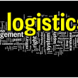 Logistics word cloud illustration - Vettoriali Stock