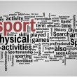 Sport word cloud illustration — Imagen vectorial