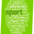 Sport word cloud illustration - Stock Vector