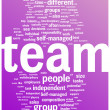 Team word cloud illustration - Stock Vector